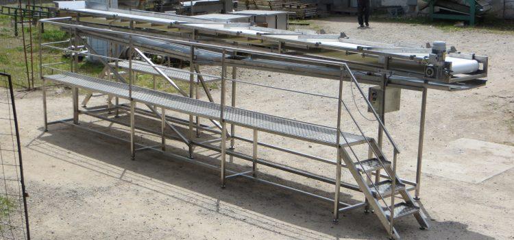 Distibutivni transporter sa PVC ili PU trakom